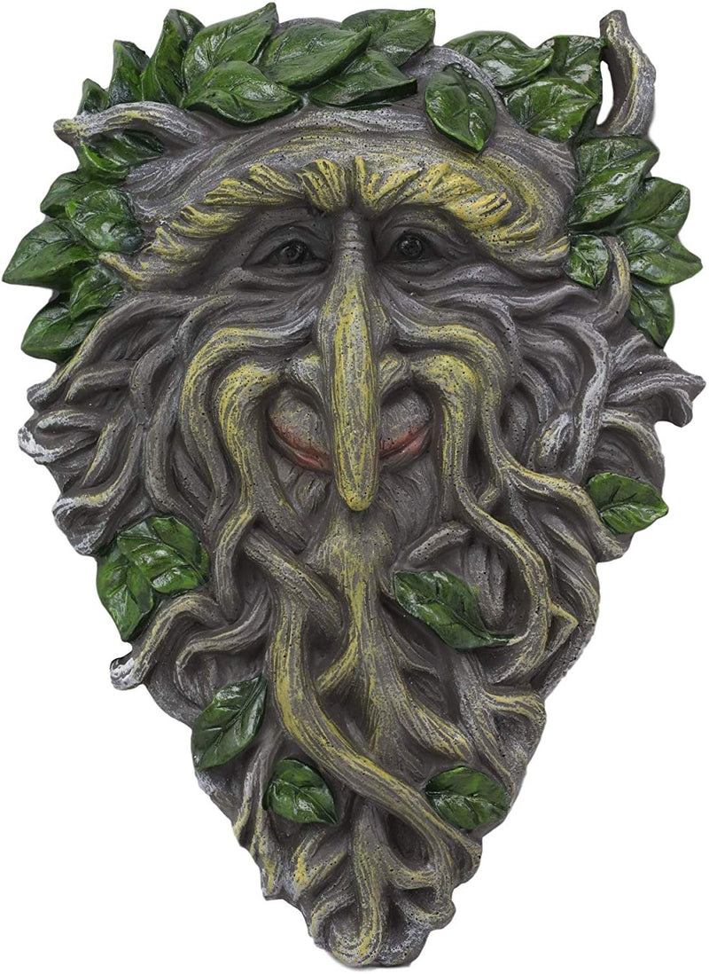 "Ebros Celtic Somerset Summer Vines Greenman Hanging Wall Decor Plaque 10.5"" High"