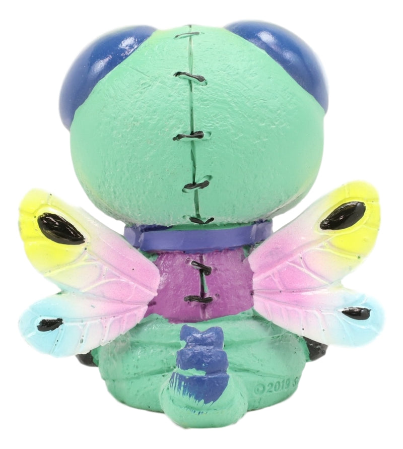 "Furry Bones Rainbow Dragonfly Queen Skeleton Furrybones Macabre Figurine 2.5""H"