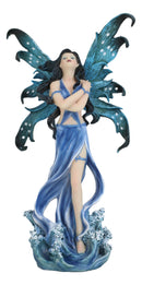 "Ebros Water Elemental Fairy Goddess Statue 12""Tall Ocean Aphrodite Fairy Rising Over Waves Figurine"