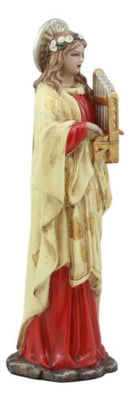 Ebros Saint Cecilia Patroness Of Musicians Carrying Portative Organ Statue Roman Martyr Religious Inspirational Sculpture Figurine
