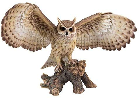 "Ebros Gift 18.7"" Wide Realist Look Opening Eagle Owl Resin Figurine Statue"
