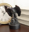Majestic Surveyor Bald Eagle With Open Wings On Rock Electroplated Resin Statue