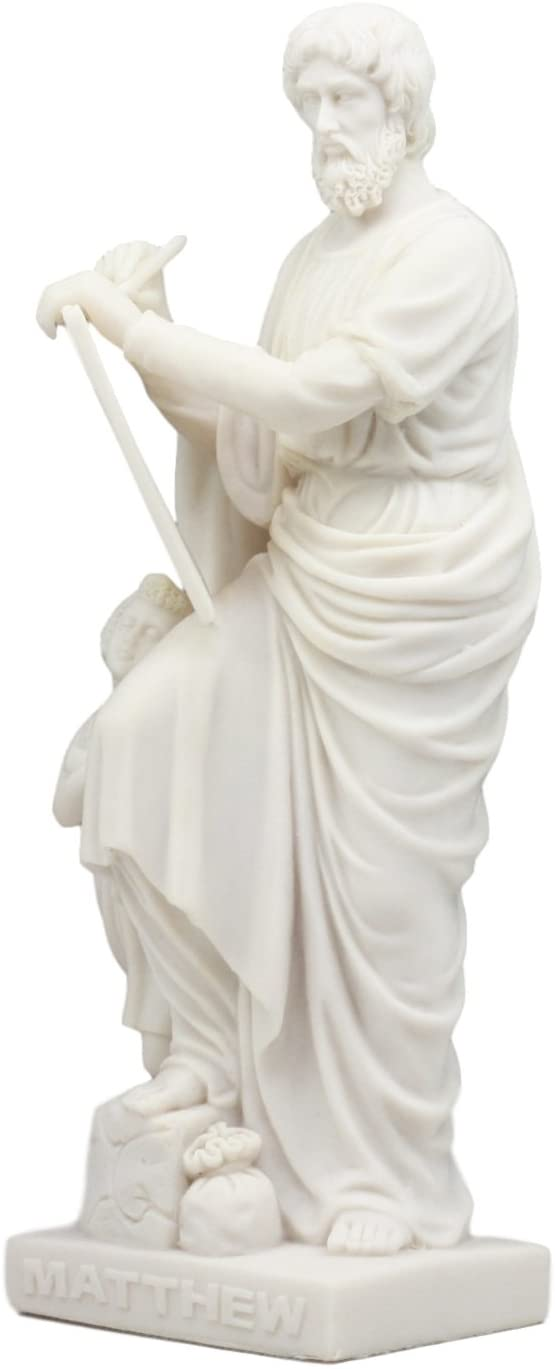 "Ebros Twelve Apostles Statue 8"" Tall Inspirational Figurine (Apostle Matthew)"