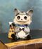 "Furrybones Bandit The Raccoon Voodoo Stitched Skeleton Figurine 3""H Furry Bones"