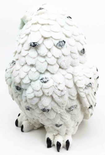 "Arctic Tundra White Snow Owl Chick Cute Figurine 6""H Collectible Sculpture - Atlantic Collectibles"