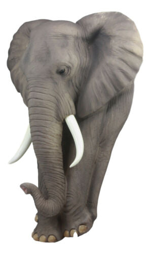 "Ebros Woolly Safari Marching Bush Elephant Wall Decor 18"" Tall 3D Sculpture Plaque Figurine Symbol of Nobility and Strength Feng Shui Symbol Excellent Home Decor Gift for Wildlife Nature Lovers"