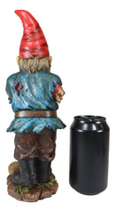 "Walking Dead Standing Zombie Gnome With Severed Hand Garden Statue 11.5"" High"