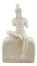 "24""H Large Armless Goddess of Compassion Kuan Yin Sitting On Mantra Rock Statue"