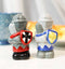 Ceramic Medieval Suit Of Armor Crusader Knights Salt Pepper Shakers Figurine Set