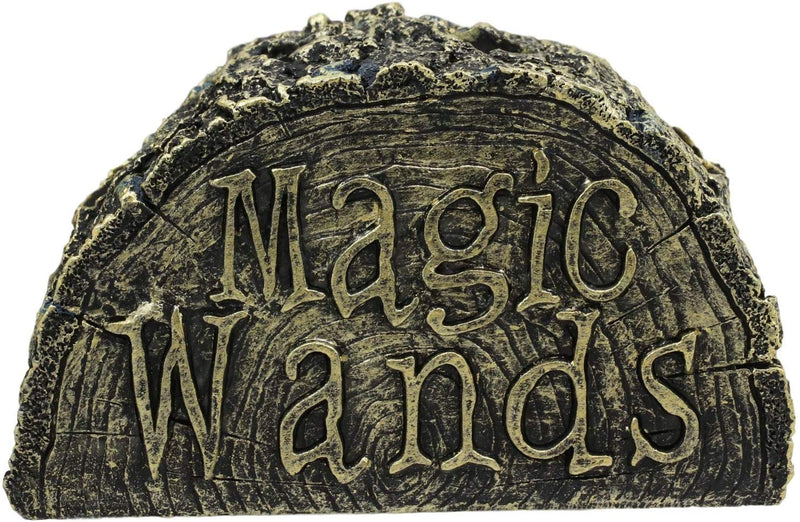 Ebros Witch & Wizard Fantasy Cosplay 4 Magic Wands with 1 Stand Holder Decor