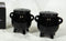 Halloween Witching Hour Wicca Witch Magic Black Cauldrons Salt N Pepper Shakers