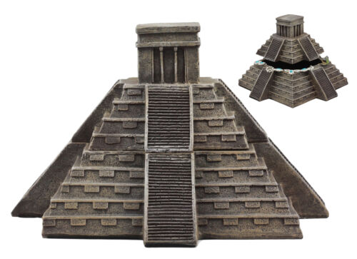 Mesoamerican Aztec Pyramid Of The Sun And Moon Decorative Jewelry Box Figurine