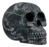 "Ebros Black Solar Astrology Paranormal Ouija Spirit Skull Statue 8.5"" Long Supernatural Occultist Witchcraft Medium Sculpture As Home Decorative Halloween Party Centerpiece"