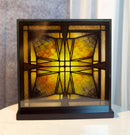 Frank Lloyd Wright Thomas Entry Ceiling Light Stained Glass Wall Desktop Plaque