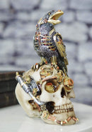 Ebros Colorful Steampunk Cyborg Raven On Submariner Clockwork Gears Skull Statue