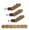 Ebros Western Shotgun Shell Casing Drawer Cabinet Pull Knobs Hardware Pack of 4