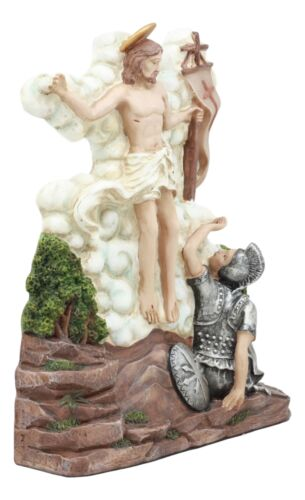 Ebros Christian Catholic Stations of The Cross Statue Way of The Sorrows Via Crucis Jesus Christ Path to Calvary Crucifixion Decor Figurine (Station 15 Jesus is Risen and Glorified)