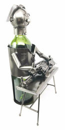 Chiropracter Treating Child Patient Steel Metal Wine Bottle Holder Caddy Storage