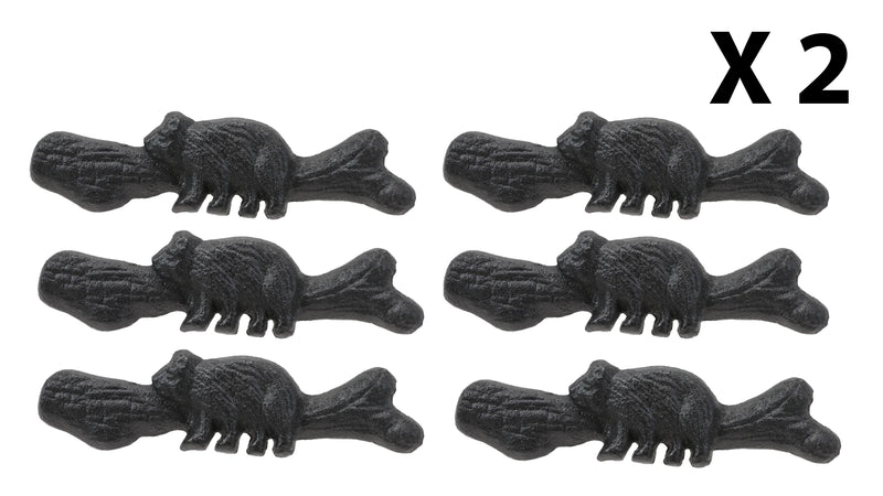 Cast Iron Rustic Western Black Bear Drawer Cabinet Door Pulls Hardware 12 Pack