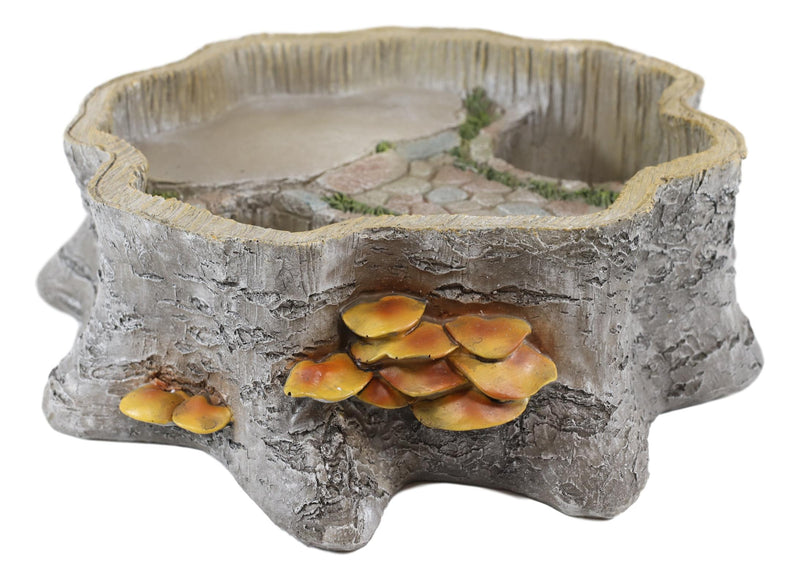 Fantasy Miniature Fairy Garden Tree Stump Cottage House Nook Display Figurine