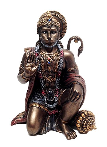 "Ebros Gift Ramayana Hanuman Monkey Hindu God Statue Decorative Figurine 6"" H Hinduism Eastern Enlightenment Devotee of Lord Rama Altar Sculpture"