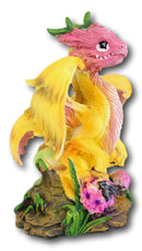 Colorful Fruits Vegetables Yellow Onion Dragon Figurine Fairy Garden Decor