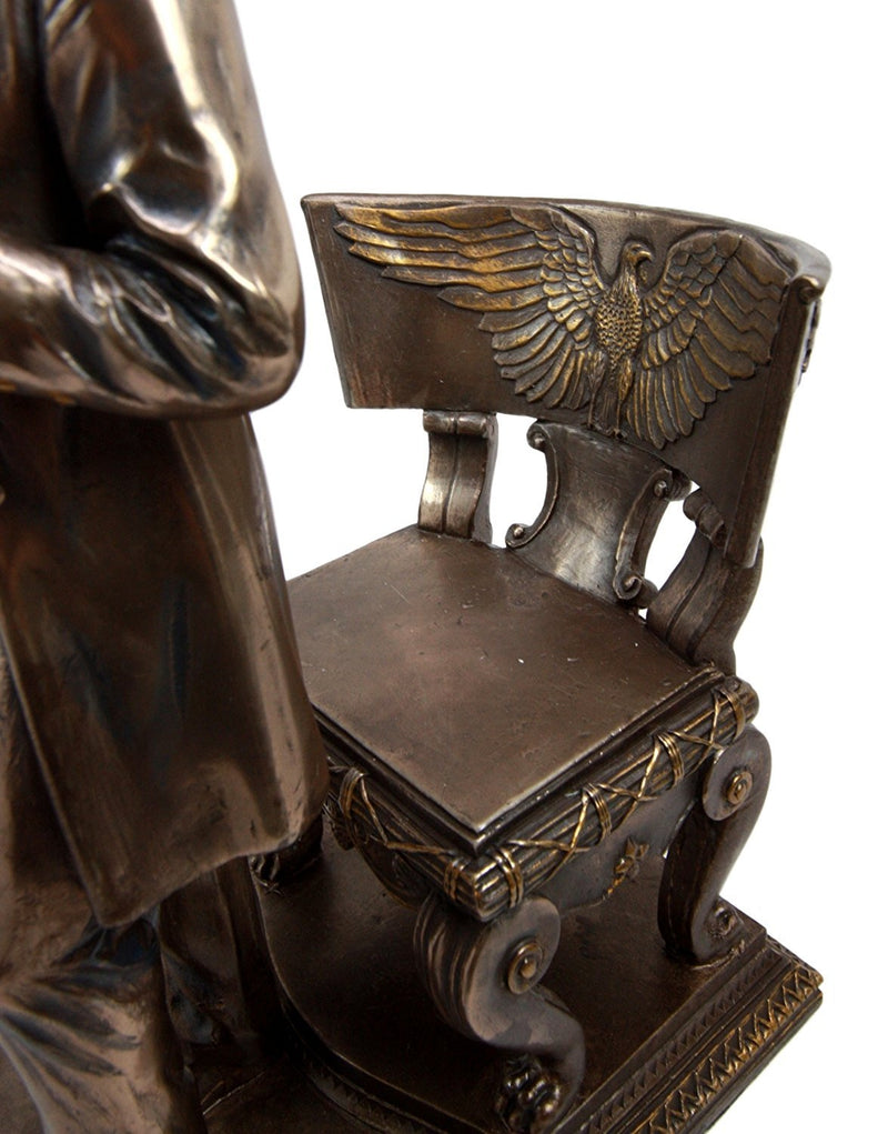 "Ebros President Abraham Lincoln Standing By Eagle Chair Historical Figurine 9""H"