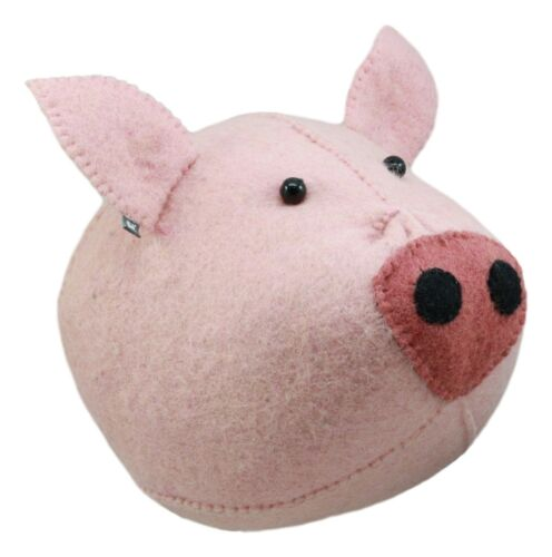 Ebros Fiona Walker England Handmade Organic Baby Semi Pig Head Wall Decor