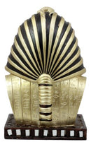"Golden Mask of King Tut Statue 8""H Egyptian Pharaoh Vulture and Cobra Crown Bust"