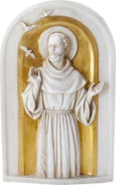 Ebros Saint Francis Wall Plaque Resin Italian Catholic Saint Francis Of Assisi