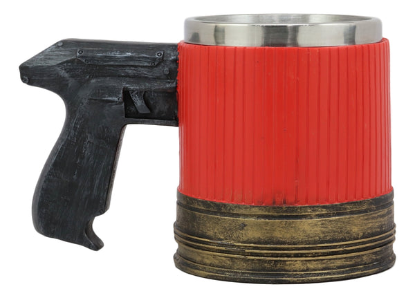 Coffee With Pistol Western 12 Ebros Gift Kitchen Tankard Accessory Shotgun Gauge Beer Stein Cup Party Red Dining Barrel Mug Handle Case Ammo 29IbWYEDHe