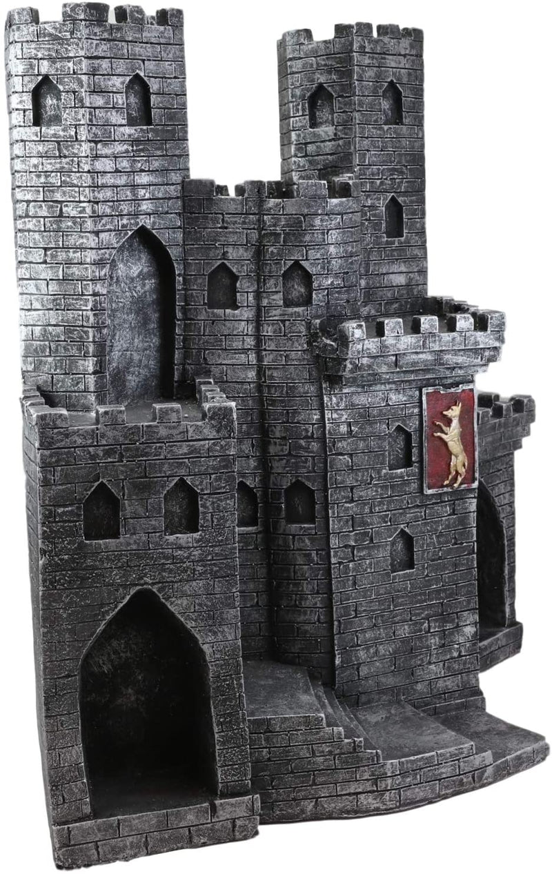 Ebros Castle Fortress Display Stand Figure For Miniature Knights (Display Only)