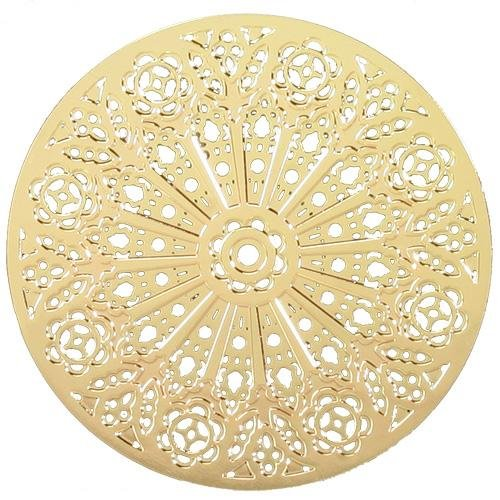 "Ebros Washington Cathedral Rose Window Ornament 2.75""Diameter 2D Hanging Decor"