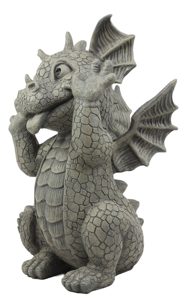 Ebros Whimsical Garden Dragon Making Funny Faces Statue 10
