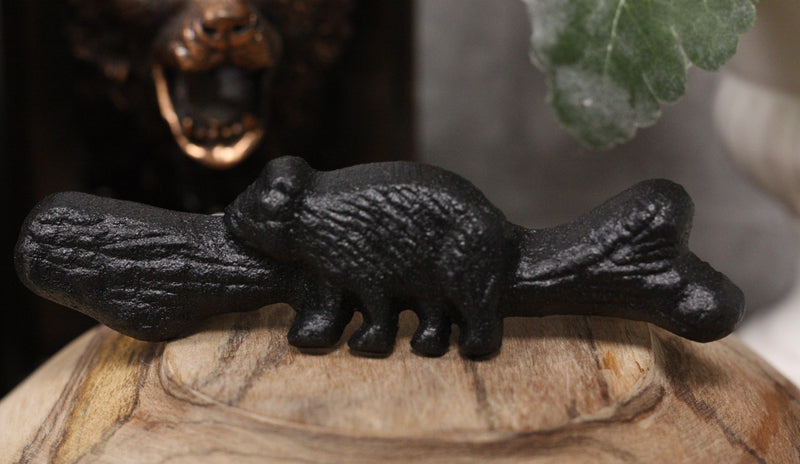 Cast Iron Rustic Western Black Bear Drawer Cabinet Door Pulls Hardware 6 Pack