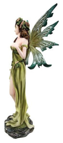 "Ebros Earth Elemental Fairy Figurine Lady of Gaia Green Thumb Flora and Fauna Faerie Fantasy Statue Sculpture 11.25"" H Myths and Legends Sprites Pixies Magical Forest Decor"