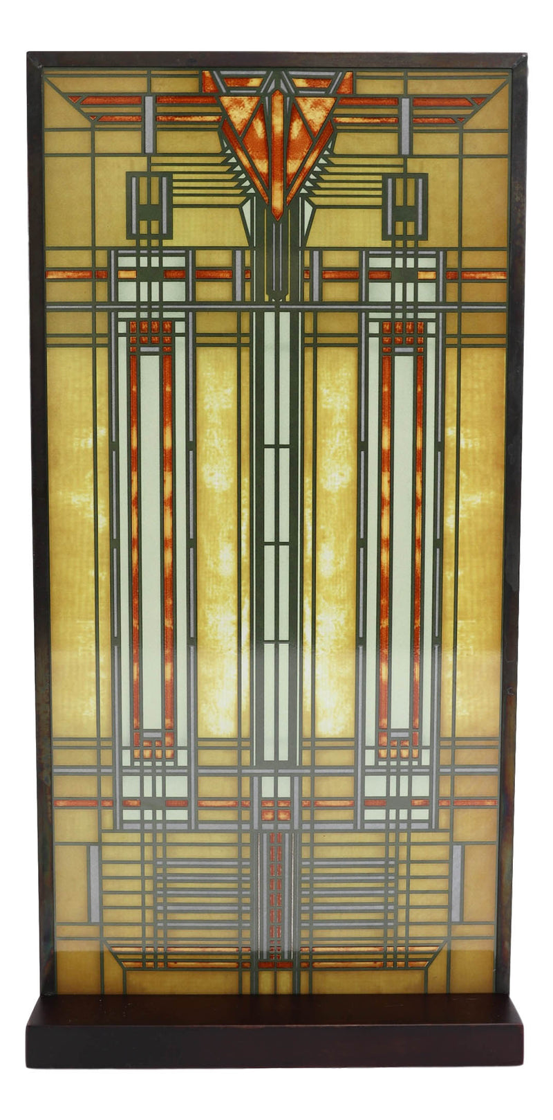 Frank Lloyd Wright Bradley House Skylight Stained Glass Wall Or Desktop Plaque