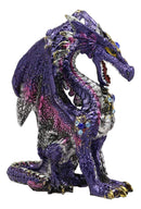 "Ebros Small Purple Rain Armored Midnight Dragon Statue 4.5"" High Fantasy Prehistoric Dungeons and Dragons Warrior Slayer Dark Knight Collectible Figurine"