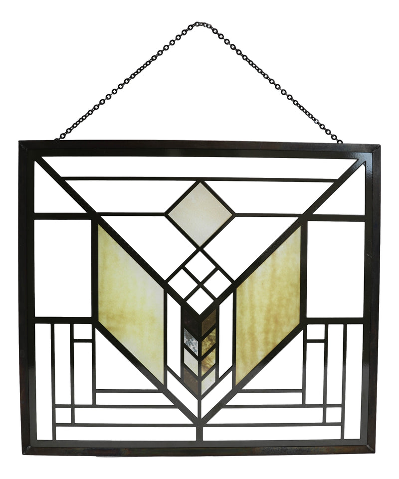 Frank Lloyd Wright Lake Geneva Tulip Scene Stained Glass Wall Or Desktop Plaque