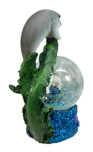 Ebros Gift Coastal Antillean Manatee Sea Cow Family Water Globe Figuri