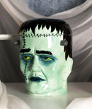 Ceramic Ghastly Victor Frankenstein Skull Cookie Jar Halloween Decor Kitchenware