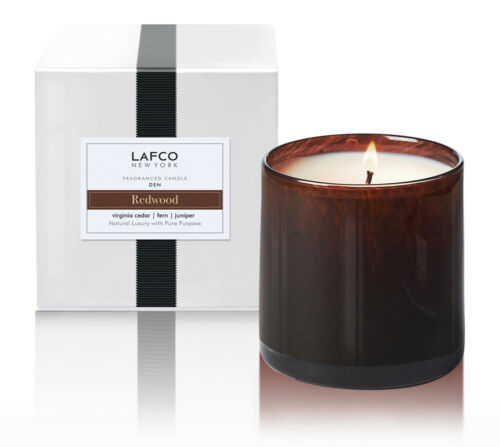 LAFCO New York Den Redwood Cedar Fern Juniper Candle 15.5oz Home Fragrance Decor
