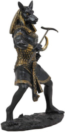 Egyptian Deity Seth Holding Khopesh Sickle Blade And Was Scepter Statue Decor