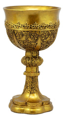 Ebros Merlin's Holy Grail The Golden Cup Of Life Chalice Ceremonial Cup Arthur