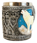 Celtic Howling Direwolf White Wolf At Starry Night Mountains Coffee Mug 14oz