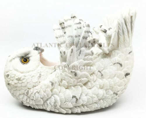 Wisdom Of The Tundra Beautiful Mystical Snowy Owl Wine Bottle Holder Decor
