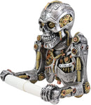 Ebros Steampunk Rustic Gearwork Cyborg Robotic Skeleton Toilet Paper Holder