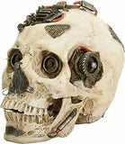 6 Inch Machine Gadget Cream Colored Closed Mouthed Skull Head
