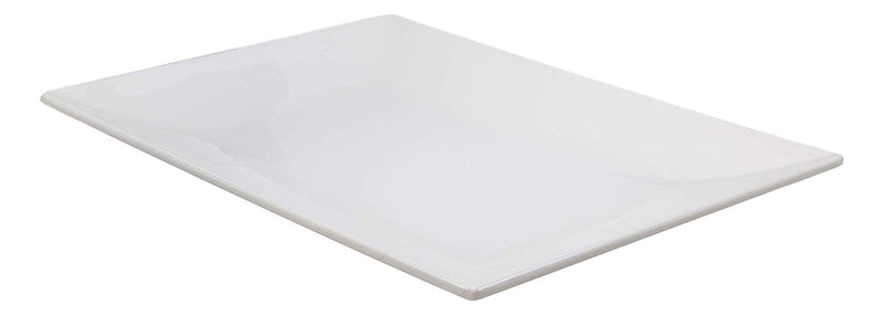 "Ebros 15"" L White Melamine Rectangular Serving Plate or Slate or Dish SET OF 3 - Ebros Gift"