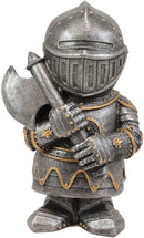 "Ebros Dwarf Axeman Medieval Knight of The Cross Templar Crusader Figurine 4.5"" H"